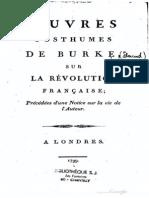 Edmund Burke, Oeuvres posthumes sur la révolution française