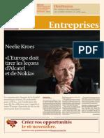 INterview de Nelly Kroes sur L'Europe des télécoms