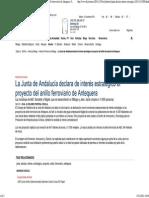 La Junta de Andalucía declara de interés estratégico el proyecto del anillo ferroviario de Antequera. SUR.pdf