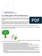 An Outline Guide to HD and Film Lenses