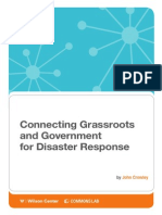 Connecting Grassroots & Government for Disaster Response
