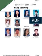 Tawau Toastmasters Club Executive Committee 2006/2007