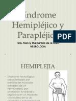 Síndrome Hemipléjico y Parapléjico