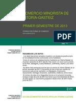Informe del Observatorio de Comercio de Vitoria del primer semestre de 2013