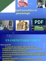 2.Investigatii Paraclinice in Pneumologie