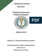 Informe de Rendicion de Cuentas 2013 (1)