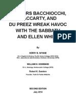 Doctors Bacchiocchi, MacCarty, & du Preez Wreak Havoc With The Sabbath and Ellen White - Second Edition