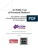 The Public Cost of Privatized Medicare