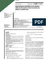 ABNT NBR 11157 - Interpretação Estatística de Dados