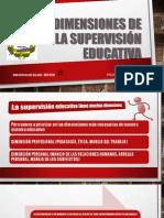 Las dimensiones de la supervisión educativa
