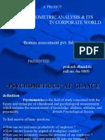 pychometric test & Thomas profiling
