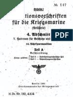 """M.Dv.190/4A14"" Munitionsvorschriften fur die Kriegsmarine (Artillerie) - 1941"