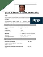 Curriculum Vitae-juan Manuel Flores