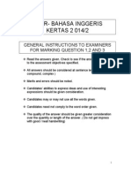 UPSR English Marking Scheme- FX07