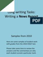 OSSLT Writing a News Report