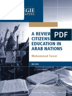 A Review of Citizenship Education in Arab Nations