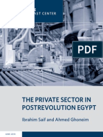 The Private Sector in Postrevolution Egypt