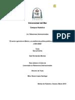Primo. HERNANDEZ-2010. El Sector Agricola en Mexico, Un Analisis de Politica Publica Para El Caso Del Maiz
