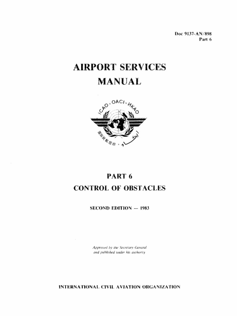 62-00 ICAO+Doc+9137 Airport+Services+Manual Part+6+-+Control+of+Obstacles  Fr 110228 Gan (1) | Airport | Zoning