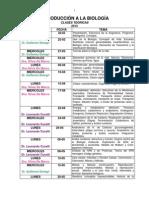 Cronograma de Clases Teóricas de I. a la Biologia. 2013. V Final