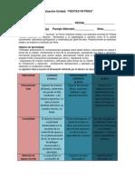 RUBRICA DE EXPRESIÓN ORAL Y PARTICIPACIÓN