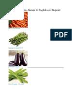 List of Vegetables Names in Gujarati