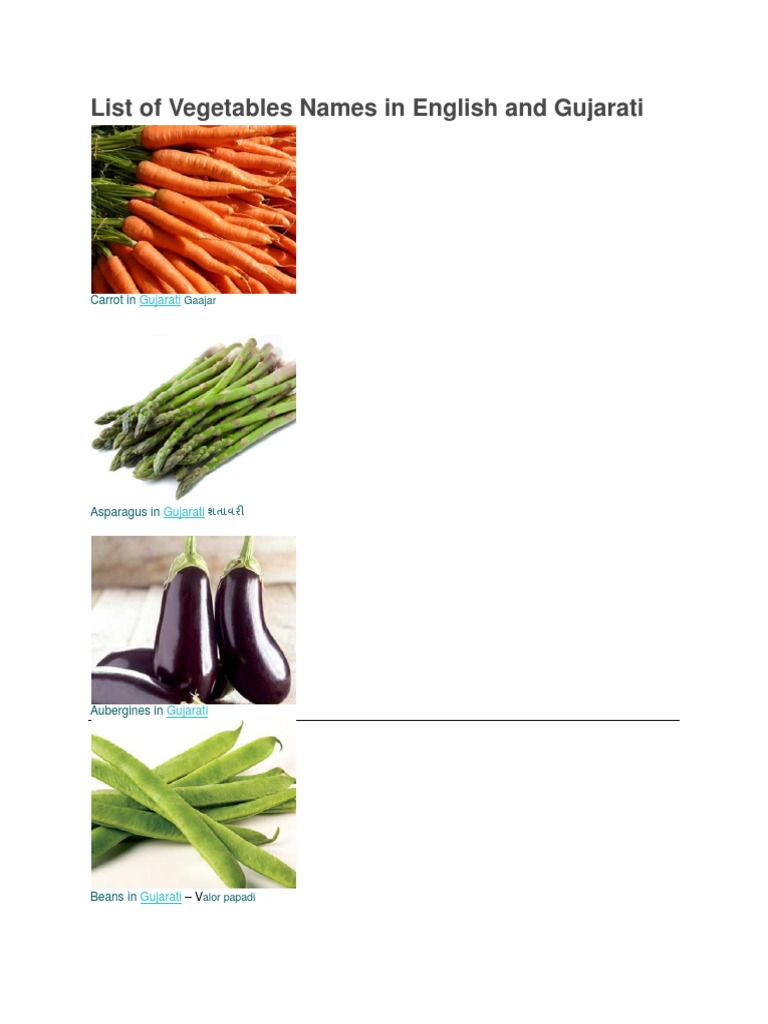 List of vegetables names in gujarati stopboris Image collections