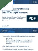 Kofax Digital Mailroom Webinar IDC Slides v4