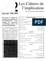 Cahiers Implication n2