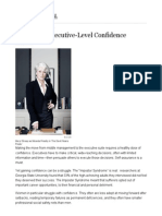 10 Steps to Executive-Level Confidence