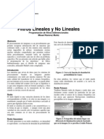 Filtros Lineales y No Lineales