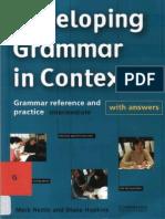 Devoloping Grammar in Context