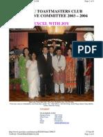 Tawau Toastmasters Club Executive Committee 2003/2004