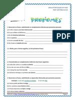 Pronomes - exercícios pron. pessoais + verbos