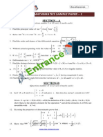 Cbse 12 Maths Sample Paper 1