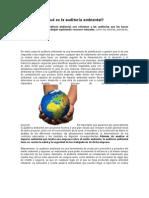 Qué es la auditoría ambiental