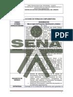 DISEÑO CURRICULAR Marco Lógico de proyectos Identificación y Analisis
