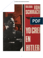 Yo Crei en Hitler Baldur Von Schirach