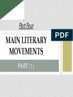 Part (4) Modern Literary Movements -1
