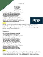 Amoretti Sonnets Text