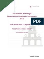 guía docente Psicofarmacología Clínica 2011-13