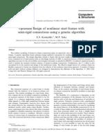 Kameshki_2001_Optimum Design of Nonlinear Steel Frames With Semi-rigid Connections