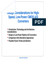 Low Power CMOS AD Converters
