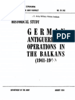 DA PAM 20-243 Antiguerrilla Ops in the Balkans (1954)