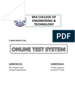A Mini Project on Online Test System