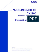 Pasolink Neo Te Cx2200_instruction Manual Ver_02.05