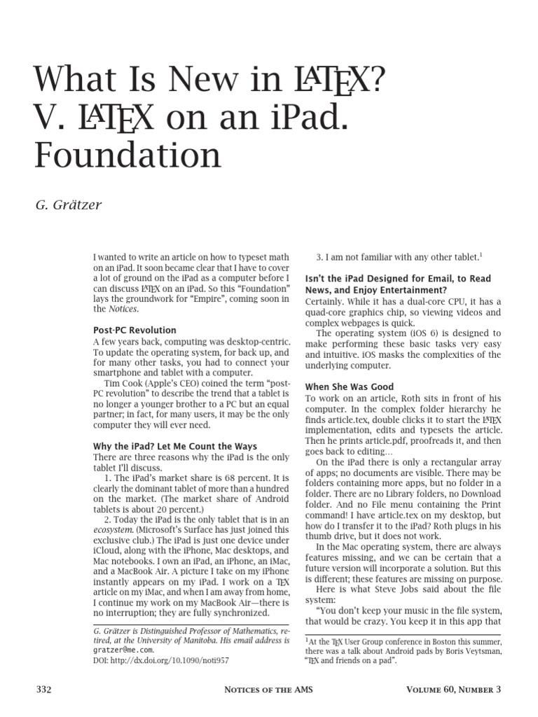 LateX on iPad | I Pad | Tablet Computer