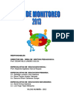 Plan de Monitoreo-2013