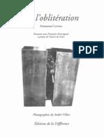 FRANÇOISE ARMENGAUD - LÉVINAS - DE L'BLITÉRATION (1)