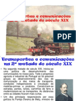 Transportes e Inovacoes Em Portugal No Sec XIX